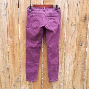 CAbi Jeans - CAbi Stretch Skinny Jeans in Distressed Merlot 4